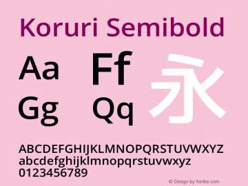 Koruri Semibold  Font Sample