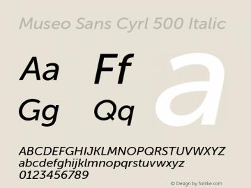 Museo Sans Cyrl 500 Italic Version 1.023图片样张