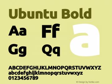 Ubuntu Bold Version 0.80 December 7, 2014 Font Sample