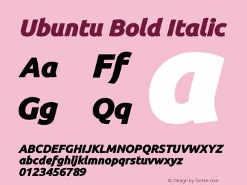 Ubuntu Bold Italic Version 0.80 December 7, 2014 Font Sample