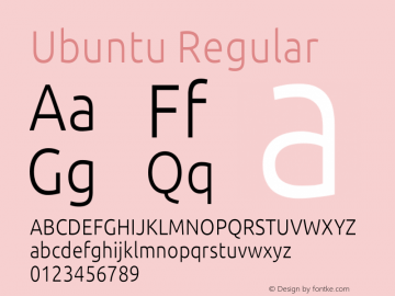 Ubuntu Version 0.80 December 7, 2014 Font Sample