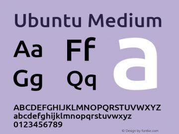 Ubuntu Medium Version 0.80 December 7, 2014 Font Sample