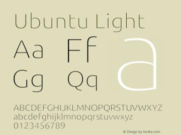 Ubuntu Light Version 0.80 December 7, 2014 Font Sample
