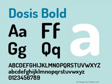 Dosis Bold Version 1.006图片样张
