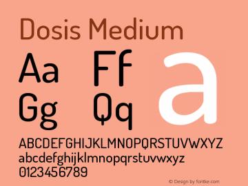 Dosis Medium Version 1.007图片样张
