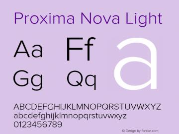 Proxima Nova Lt Regular Version 1.000;PS 001.000;hotconv 1.0.38图片样张