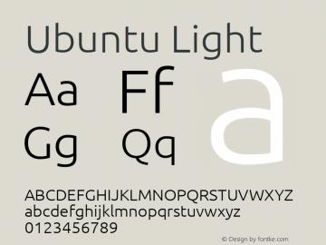 Ubuntu Light Version 0.80 October 7, 2015 Font Sample