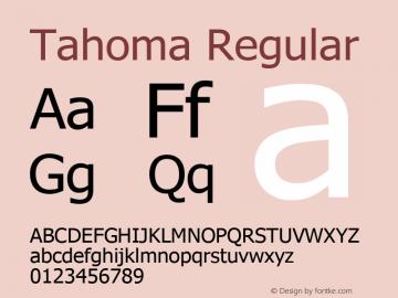 Tahoma Version 3.15 October 23, 2016图片样张