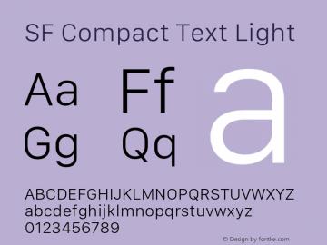 SF Compact Text Light 11.0d10e2图片样张