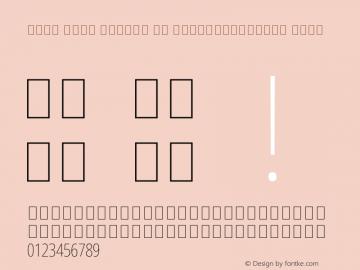 Noto Sans Arabic UI ExtraCondensed Thin Version 2.000 Font Sample