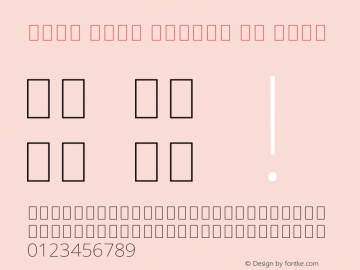 Noto Sans Arabic UI Thin Version 2.000 Font Sample