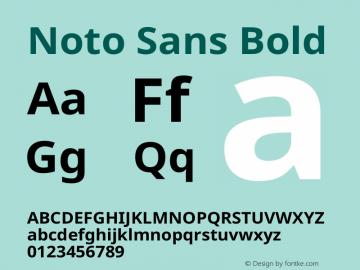 Noto Sans Bold Version 2.000图片样张