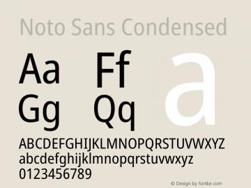 Noto Sans Condensed Version 2.000图片样张
