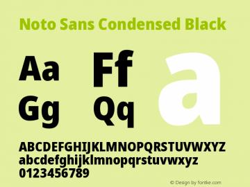 Noto Sans Condensed Black Version 2.000图片样张