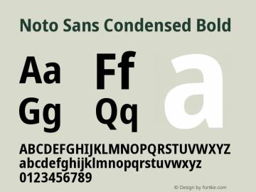 Noto Sans Condensed Bold Version 2.000图片样张