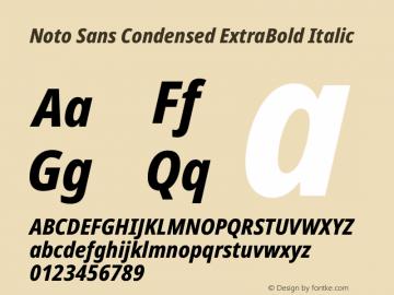 Noto Sans Condensed ExtraBold Italic Version 2.000图片样张
