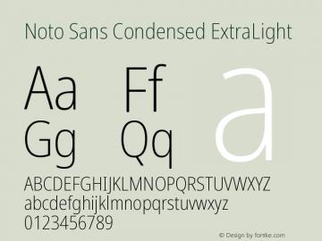 Noto Sans Condensed ExtraLight Version 2.000图片样张