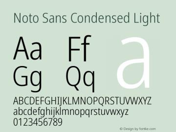 Noto Sans Condensed Light Version 2.000图片样张