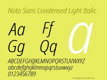 Noto Sans Condensed Light Italic Version 2.000图片样张