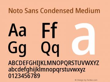 Noto Sans Condensed Medium Version 2.000图片样张