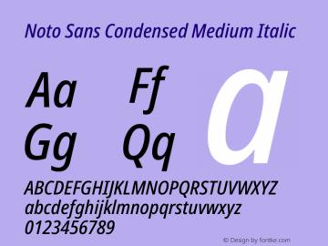 Noto Sans Condensed Medium Italic Version 2.000图片样张