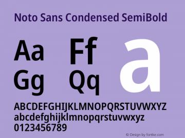 Noto Sans Condensed SemiBold Version 2.000图片样张