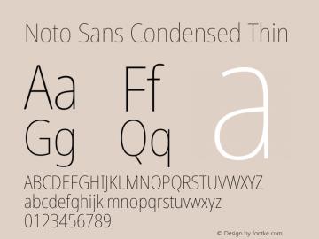 Noto Sans Condensed Thin Version 2.000图片样张