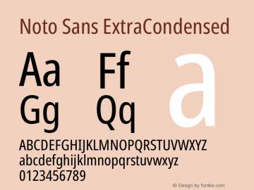 Noto Sans ExtraCondensed Version 2.000图片样张