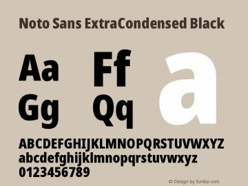 Noto Sans ExtraCondensed Black Version 2.000图片样张