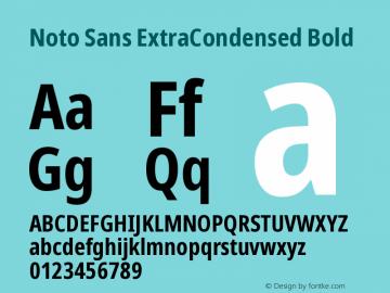 Noto Sans ExtraCondensed Bold Version 2.000图片样张