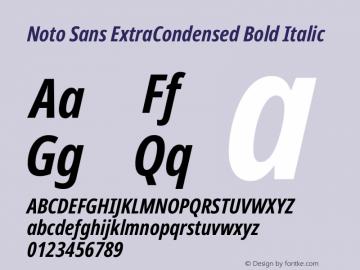 Noto Sans ExtraCondensed Bold Italic Version 2.000图片样张