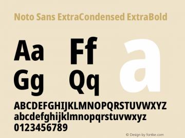 Noto Sans ExtraCondensed ExtraBold Version 2.000图片样张