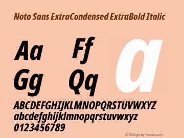 Noto Sans ExtraCondensed ExtraBold Italic Version 2.000图片样张