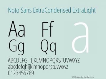 Noto Sans ExtraCondensed ExtraLight Version 2.000图片样张