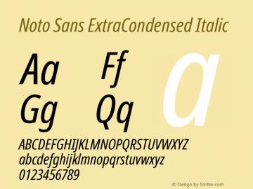Noto Sans ExtraCondensed Italic Version 2.000图片样张
