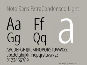 Noto Sans ExtraCondensed Light Version 2.000图片样张