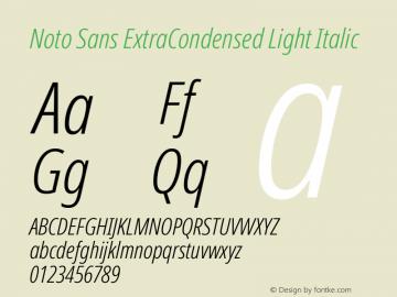 Noto Sans ExtraCondensed Light Italic Version 2.000图片样张