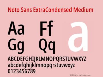 Noto Sans ExtraCondensed Medium Version 2.000图片样张