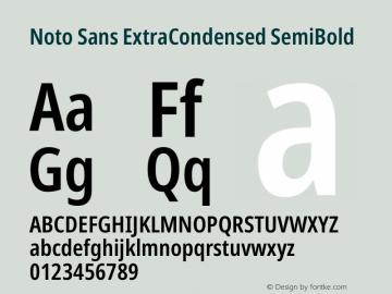Noto Sans ExtraCondensed SemiBold Version 2.000图片样张