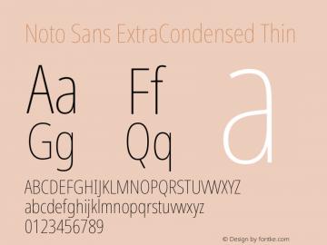 Noto Sans ExtraCondensed Thin Version 2.000图片样张