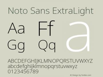 Noto Sans ExtraLight Version 2.000图片样张