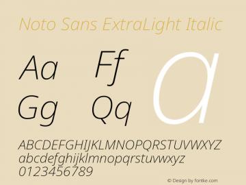 Noto Sans ExtraLight Italic Version 2.000图片样张
