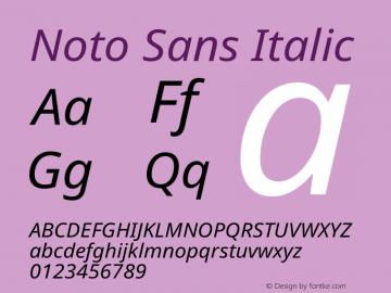 Noto Sans Italic Version 2.000图片样张