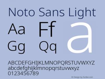 Noto Sans Light Version 2.000图片样张