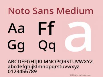 Noto Sans Medium Version 2.000图片样张
