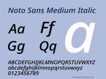 Noto Sans Medium Italic Version 2.000图片样张