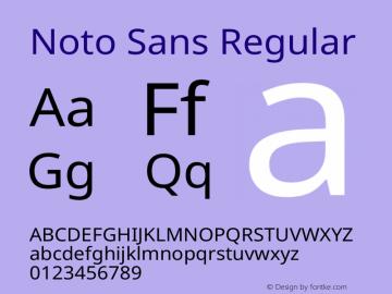 Noto Sans Regular Version 2.000图片样张