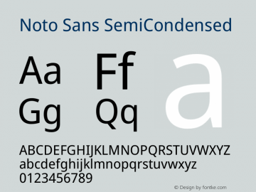 Noto Sans SemiCondensed Version 2.000图片样张
