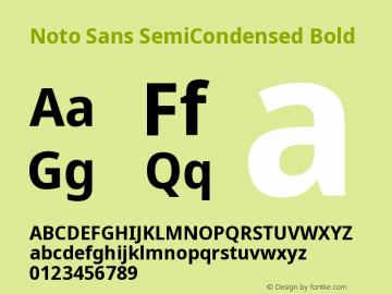 Noto Sans SemiCondensed Bold Version 2.000图片样张