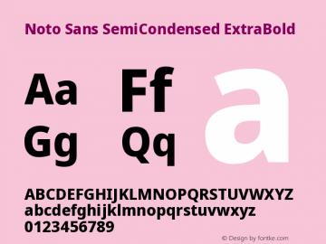 Noto Sans SemiCondensed ExtraBold Version 2.000图片样张